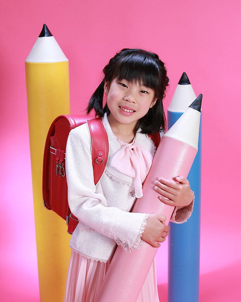 小学校入学の記念写真(女の子)