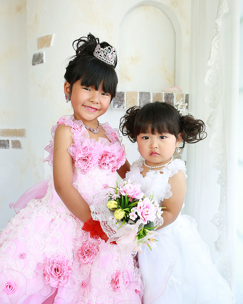 七五三 ドレスの姉妹
